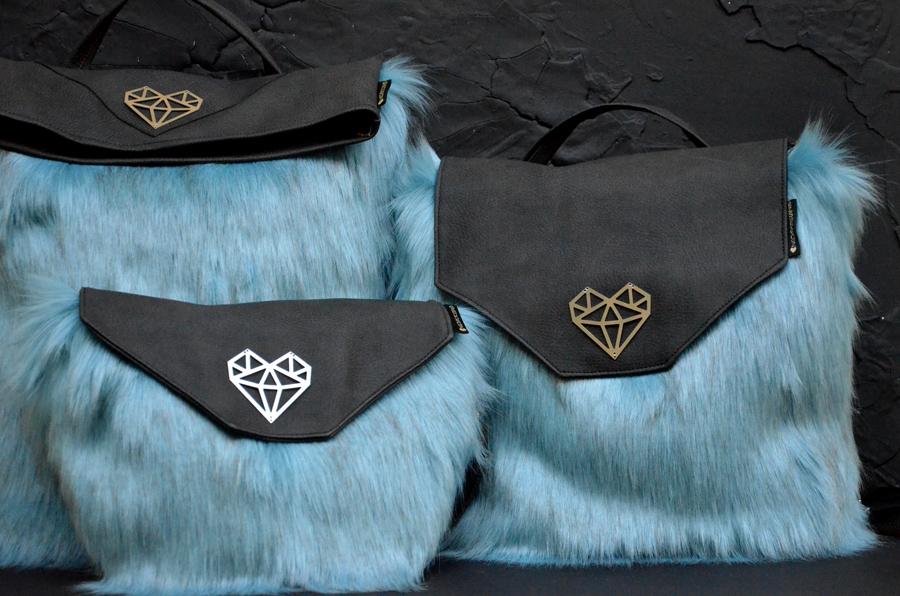 Fluffy Sulley szőrös táska